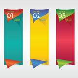 Verticale Banner. Stock Foto