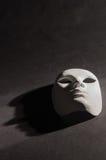Verticale bianco del fondo del nero dell'ombra della maschera Immagine Stock Libera da Diritti