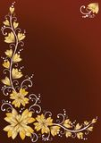 Verticale bloemenachtergronden. Bruin Stock Foto's