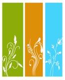 Verticale bloemenbanners Stock Foto's