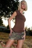 Verticale blonde Image libre de droits