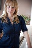 Verticale blonde de beauté Photos libres de droits