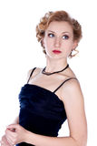 Verticale blonde de femme de Hair.Beautiful Photos stock