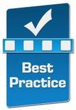 Verticale blu del separatore di best practice Immagine Stock