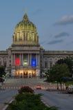 Verticale capitale patriottico della Pensilvania Fotografia Stock Libera da Diritti
