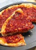 Verticale casalingo della pizza Fotografia Stock