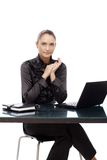 Verticale confiante de femme d'affaires Image libre de droits