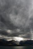 Verticale déprimée de ciel Images libres de droits