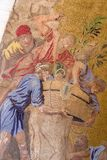 Verticale : Détail de la mosaïque sur la basilique du ` s de St Mark à Venise Image stock