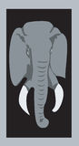 Verticale d'éléphant Image stock