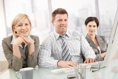 Verticale d'équipe confiante d'affaires Images stock