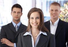Verticale d'équipe d'affaires Photo stock