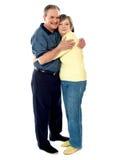 Verticale d'étreindre heureux de couples Image libre de droits