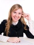 Verticale d'étudiant de sourire Image stock