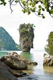 Verticale d'île de James Bond (Ko Tapu) Photos stock