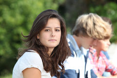 Verticale d'adolescente Image libre de droits