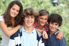 Verticale d'adolescents Photo libre de droits