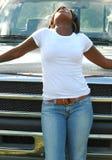 Verticale d'Afro-américain Images stock
