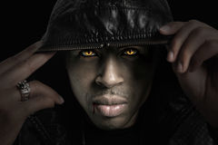 Verticale d'Afro-américain Photo libre de droits