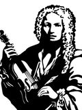 Verticale d'Antonio Vivaldi Photo libre de droits