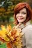 Verticale d'automne Photographie stock libre de droits