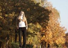 Verticale d'automne Photos libres de droits