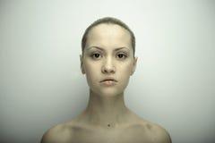Verticale d'beaux-arts de fille élégante Images libres de droits