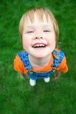 Verticale d'enfant de beauté de point de vue ci-dessus Image libre de droits