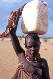 Verticale d'enfant de Turkana Photos libres de droits