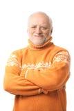 Verticale d'homme aîné heureux Photographie stock libre de droits
