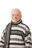 Verticale d'homme aîné heureux Photos libres de droits