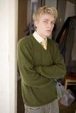 Verticale d'homme blond photo libre de droits
