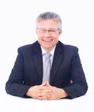 Verticale d'homme d'affaires aîné Photo libre de droits
