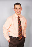 Verticale d'homme d'affaires dans la chemise Image stock
