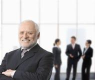 Verticale d'homme d'affaires de sourire Image stock