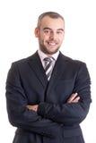 Verticale d'homme d'affaires de sourire heureux Photos libres de droits
