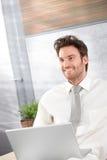 Verticale d'homme d'affaires heureux Image stock