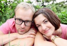 Verticale d'homme et de femme Photos stock