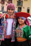 Verticale d'homme et de femme Quechua Photo libre de droits