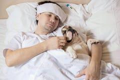 Verticale d'homme malade Image libre de droits