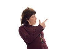 Verticale d'idée de trouvaille de femme d'affaires de beauté Photo stock