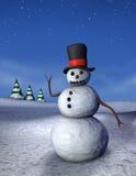 Verticale d'ondeggiamento del pupazzo di neve Immagini Stock Libere da Diritti