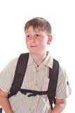 Verticale d'un écolier Photo libre de droits