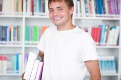 Verticale d'un étudiant universitaire bel Image libre de droits