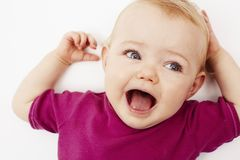 Verticale d'un bébé Photos libres de droits