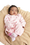 Verticale d'un bébé nouveau-né images libres de droits