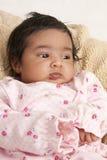 Verticale d'un bébé nouveau-né photo libre de droits