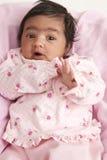 Verticale d'un bébé nouveau-né image libre de droits