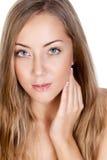 Verticale d'un beau modèle femelle Photographie stock libre de droits