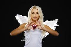 Verticale d'un bel ange Photos stock